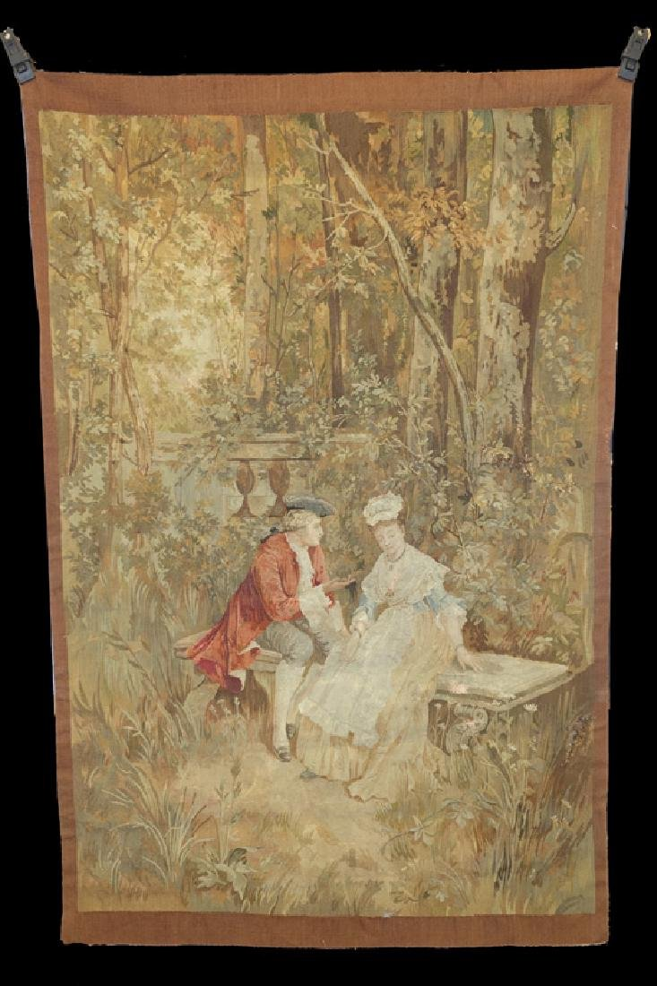 TAPESTRY COURTING SCENE