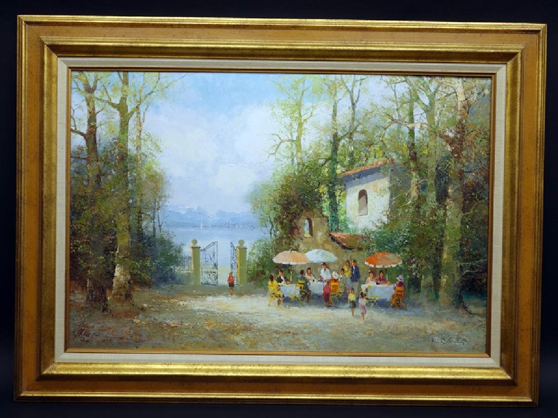 WILLI BAUER GARDEN PARTY PAINTING