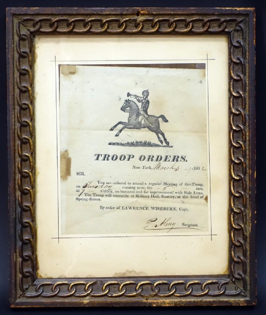 TROOP ORDERS DATED MARCH 3, 1832