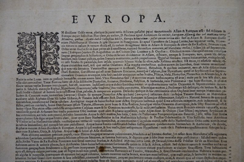 EARLY MAP EUROPA - 8