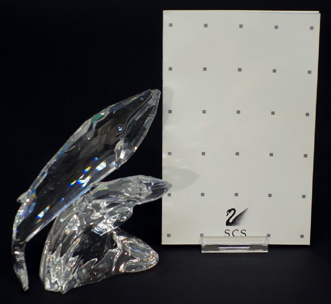 "SWAROVSKI ""CARE FOR ME"" THE WHALES CRYSTAL FIGURINE"