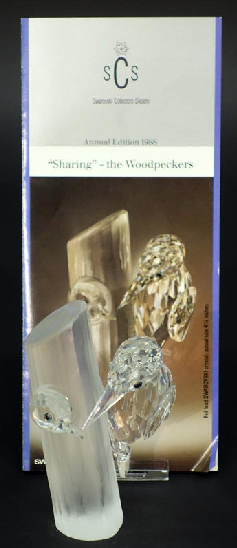 "SWAROVSKI ""SHARING"" THE WOODPECKERS CRYSTAL FIGURINE"