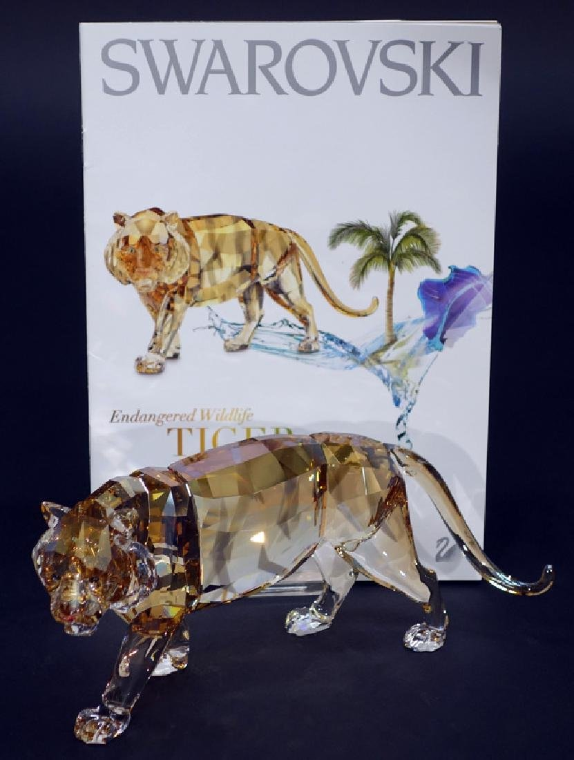 "SWAROVSKI ""ANNUAL EDITION 2010 TIGER"" CRYSTAL FIGURINE"