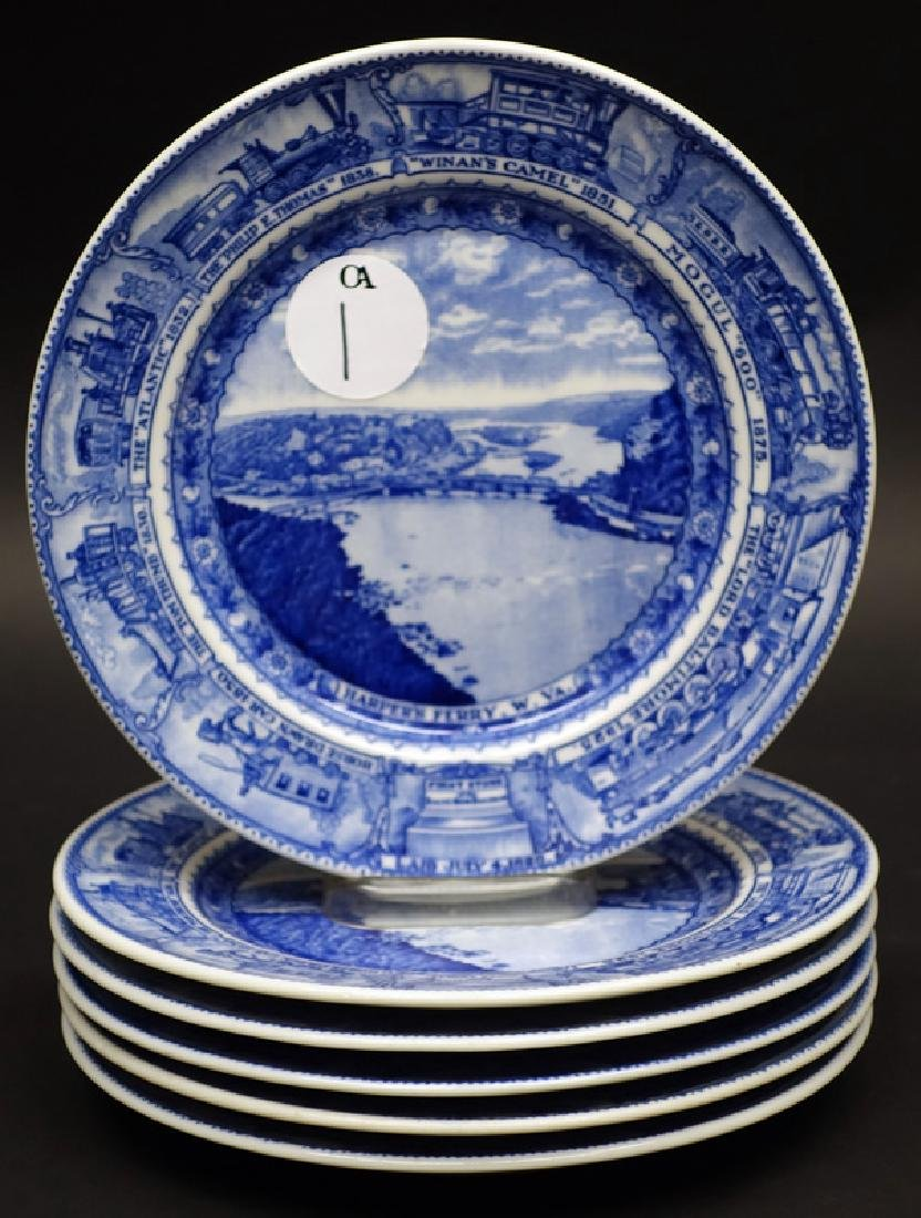B&O (6) PLATES - HARPERS FERRY, 9 INCH
