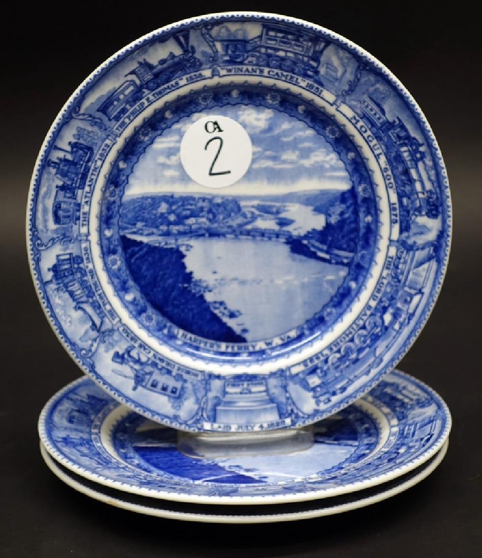B&O (3) PLATES - HARPERS FERRY, 9 INCH