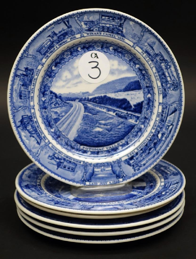 B&O (6) PLATES - POTOMAC VALLEY, 8 INCH