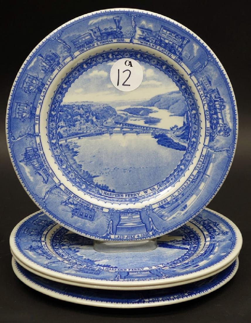 B&O (4) PLATES - HARPERS FERRY - 10 INCH