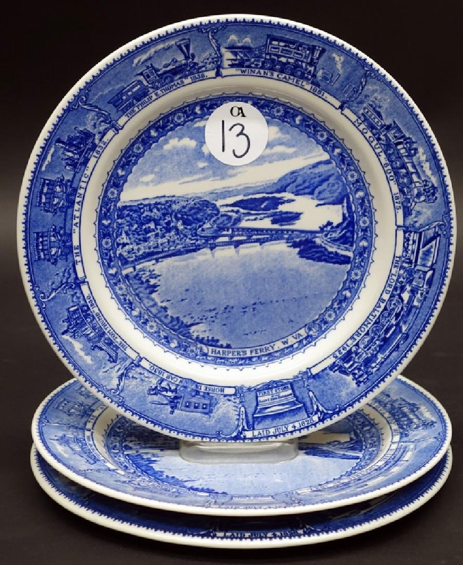 B&O (3) PLATES - HARPERS FERRY, 10 1/4 INCH