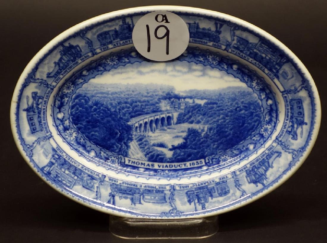 B&O SMALL PLATTER - THOMAS VIADUCT 8 INCH
