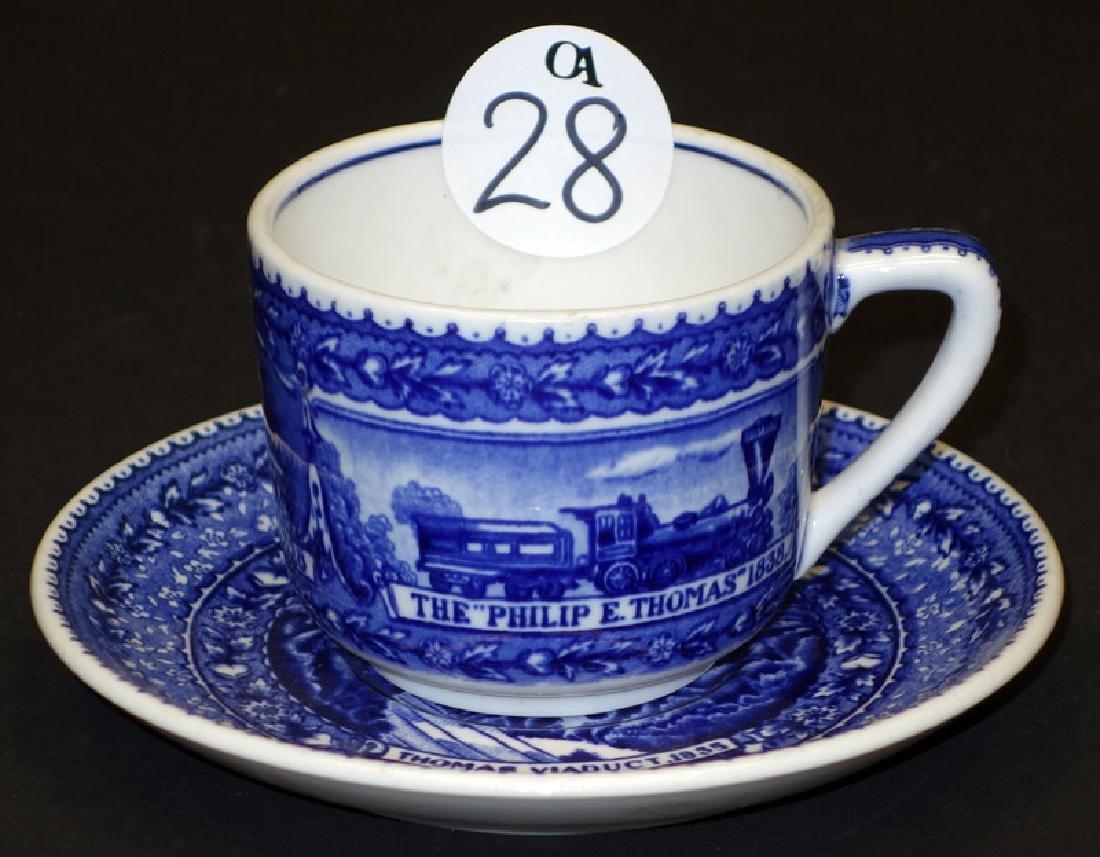 B&O COFFEE CUP & SAUCER - THOMAS VIADUCT