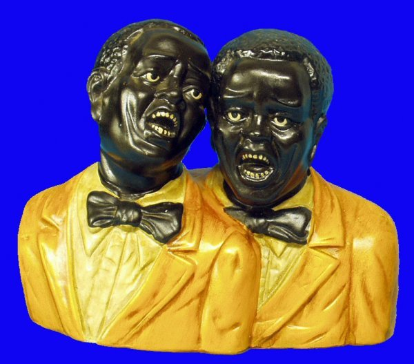 1: BLACK AMERICANA Figural Singing Duo