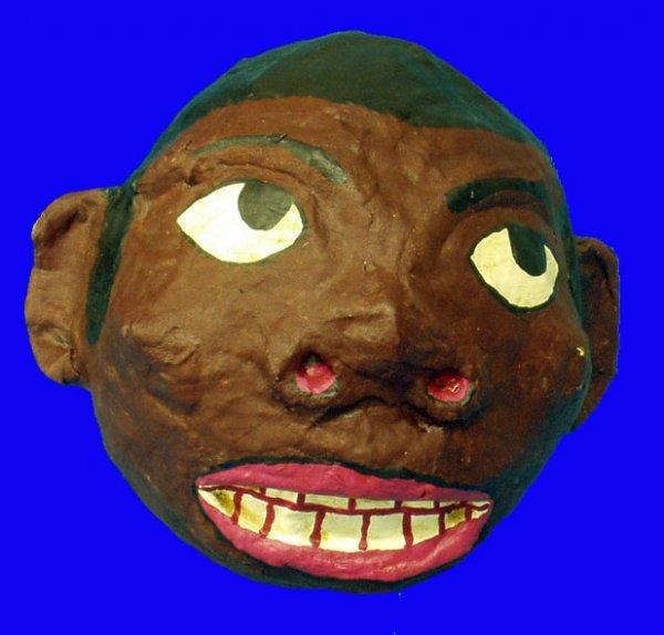 6: BLACK AMERICANA Papier Mache Head