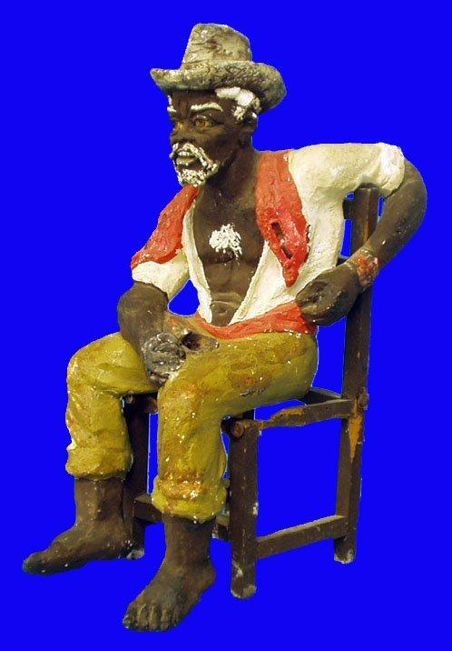 7: BLACK AMERICANA Chalk Seated Man