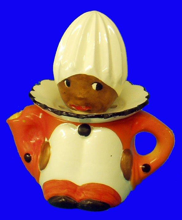 10: BLACK AMERICANA Porcelain Juicer Goebel
