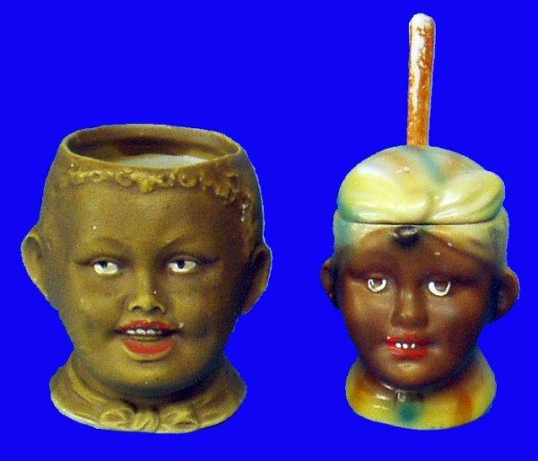 12: BLACK AMERICANA Porcelain Table Items