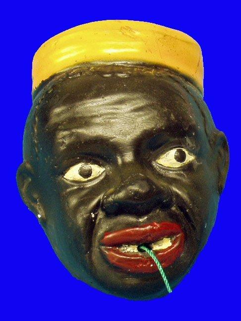 16: BLACK AMERICANA Chalk Figural String Holder