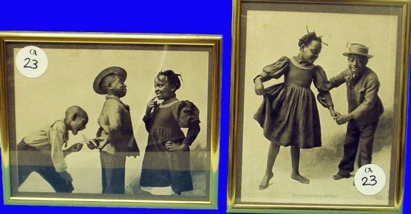 23: BLACK AMERICANA (2) Framed Photos