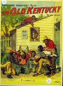 217: BLACK AMERICANA In Old Kentucky Play Poster