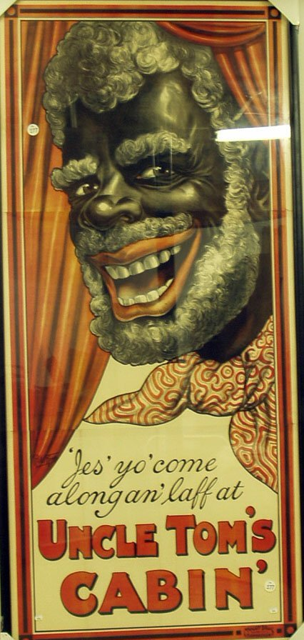 277: BLACK AMERICANA Theatre Ad Sign Uncle Toms Cabin