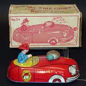 FIRE CHIEF PULL TOY