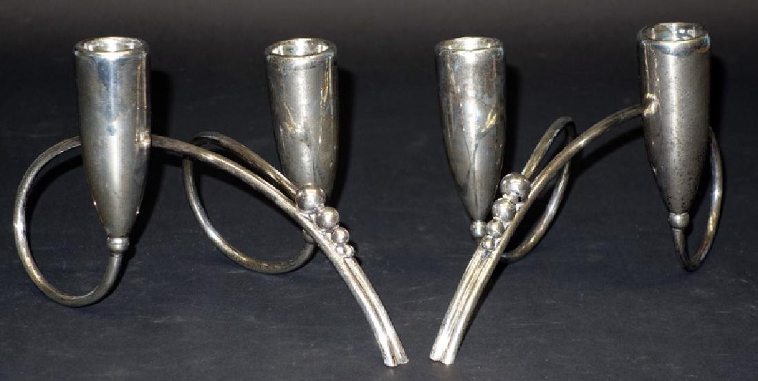 PAIR MODERN MEXICAN CANDLEHOLDERS