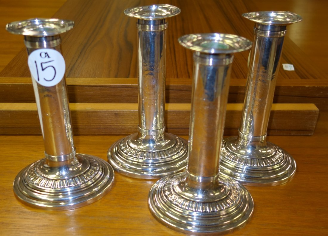 DURGIN STERLING WEIGHTED CANDLESTICKS - 2