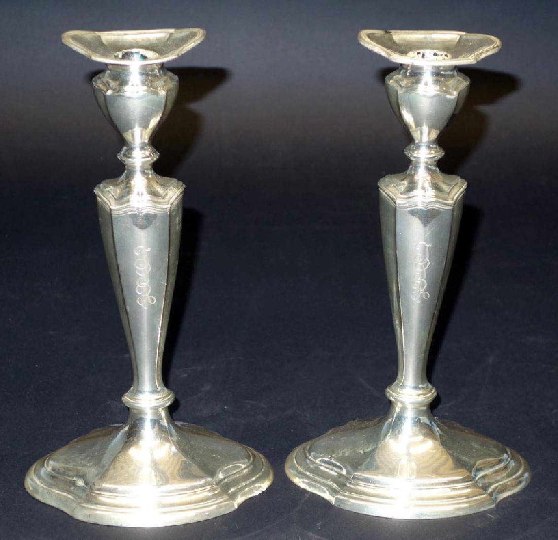 PAIR ALVIN STERLING WEIGHTED CANDLESTICKS
