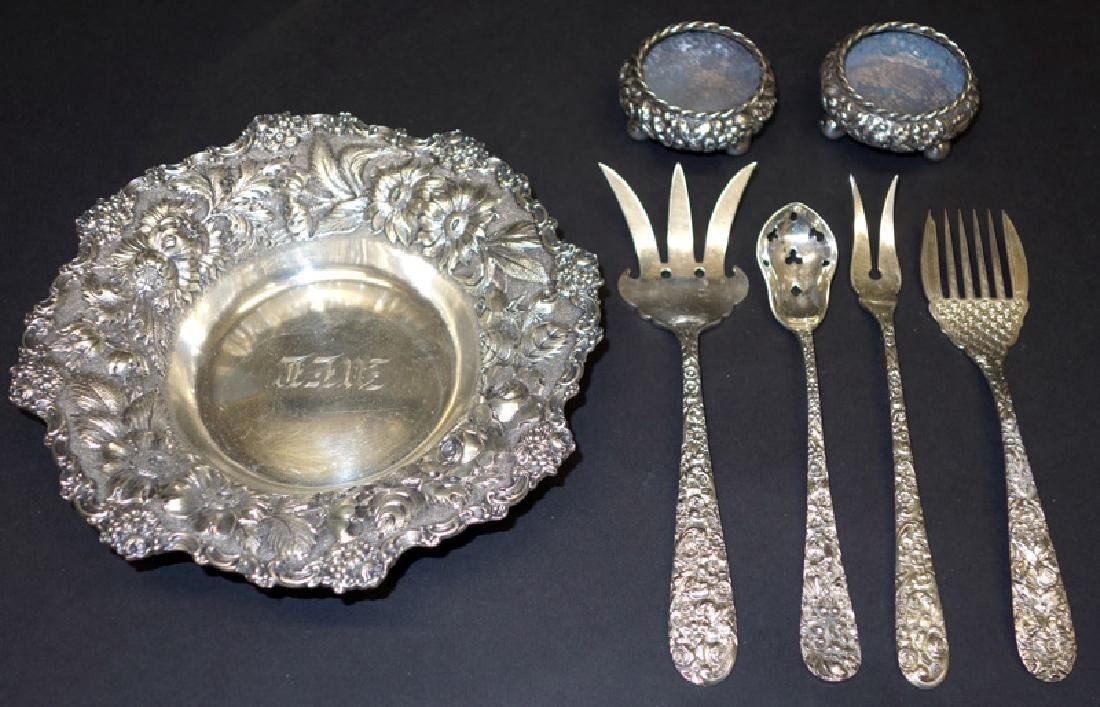 STERLING REPOUSSE FLATWARE & HOLLOW WARE