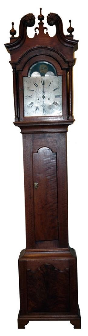 JOHN SPROGELL TALL CASE CLOCK