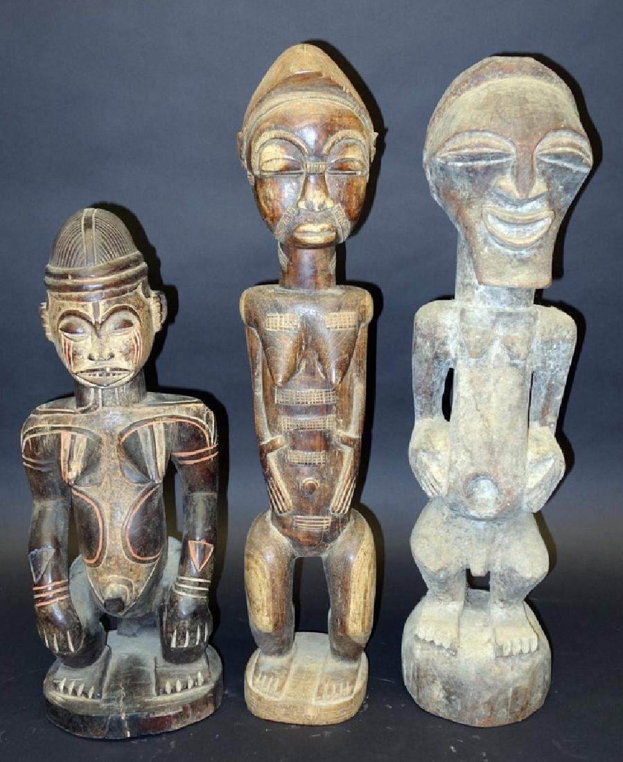 AFRICAN FEMALE FIGURAL CARVINGS (3)