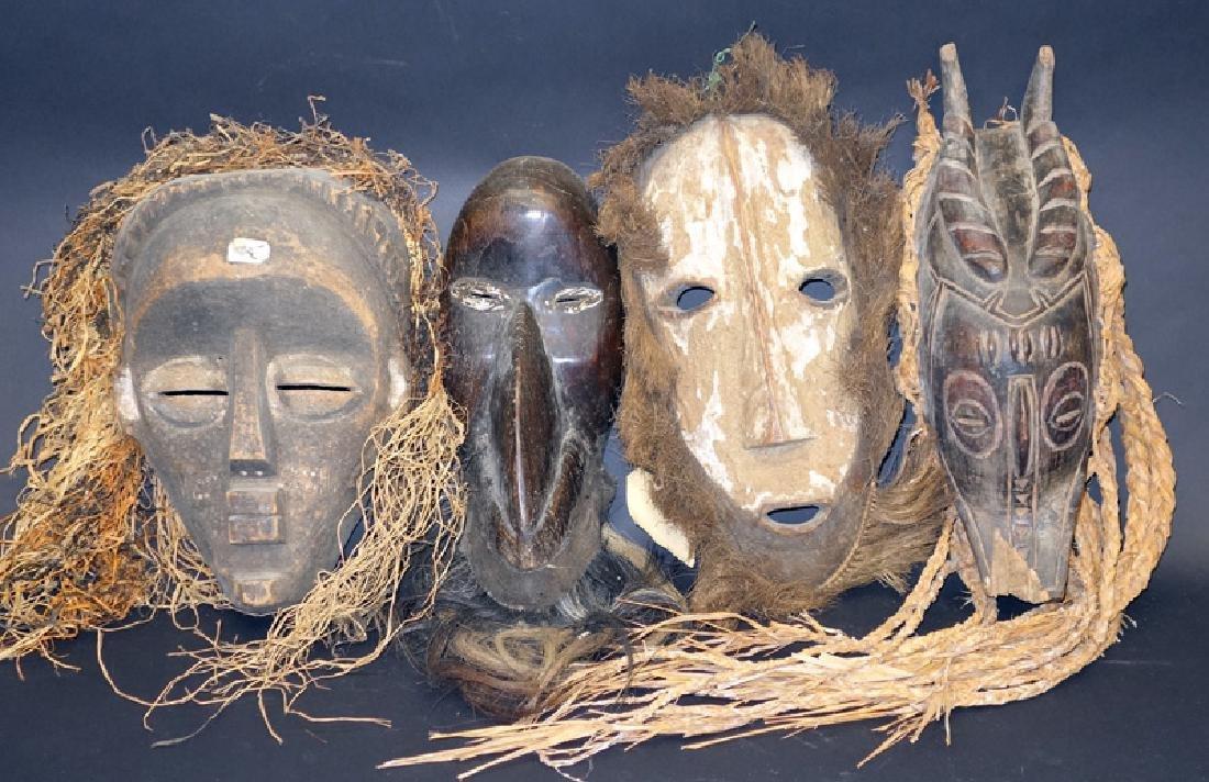 AFRICAN TRIBAL MASKS (4)