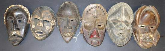 AFRICAN TRIBAL MASKS (6)