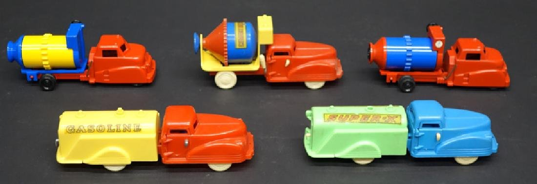 PLASTIC TOY TRUCKS & CONSTRUCTION VEHICLES (5)