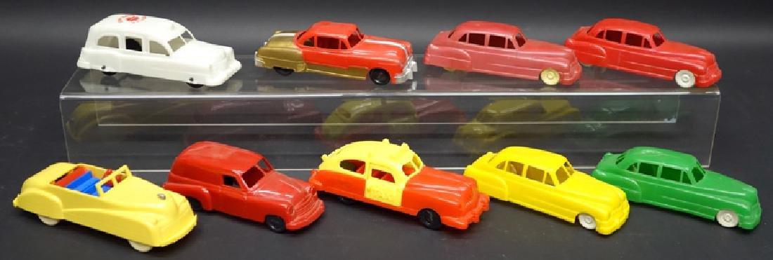 PLASTIC TOY CARS & VEHICLES (9)