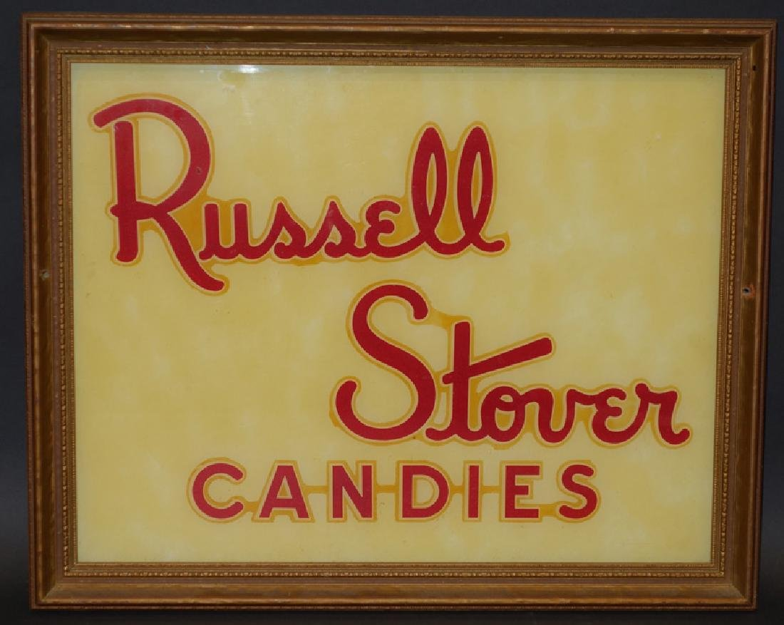 RUSSELL STOVER CANDY SIGN