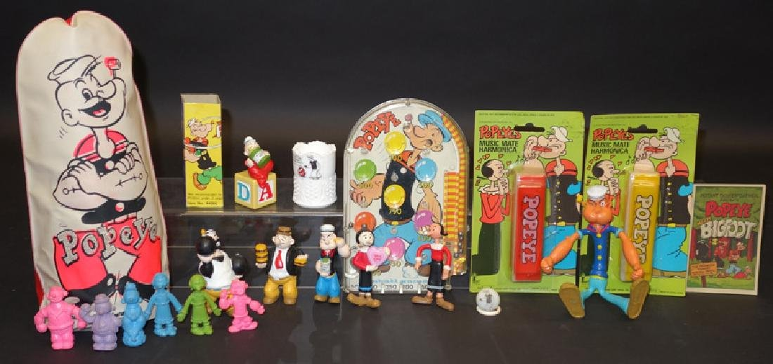POPEYE FIGURES & COLLECTIBLES (19+/-)