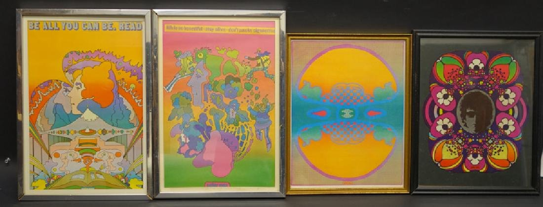PETER MAX PICTURE POSTERS (4)