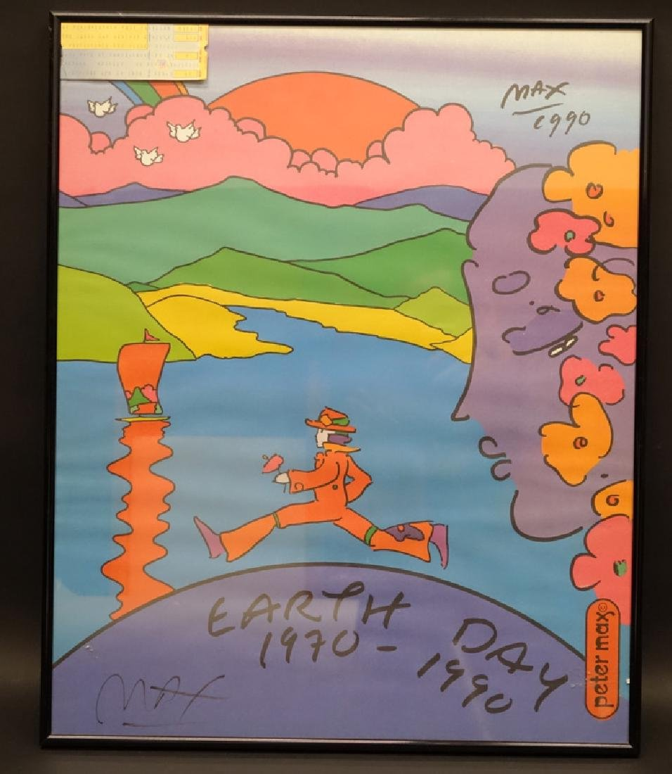 """PETER MAX POSTER """"EARTH DAY"""""""