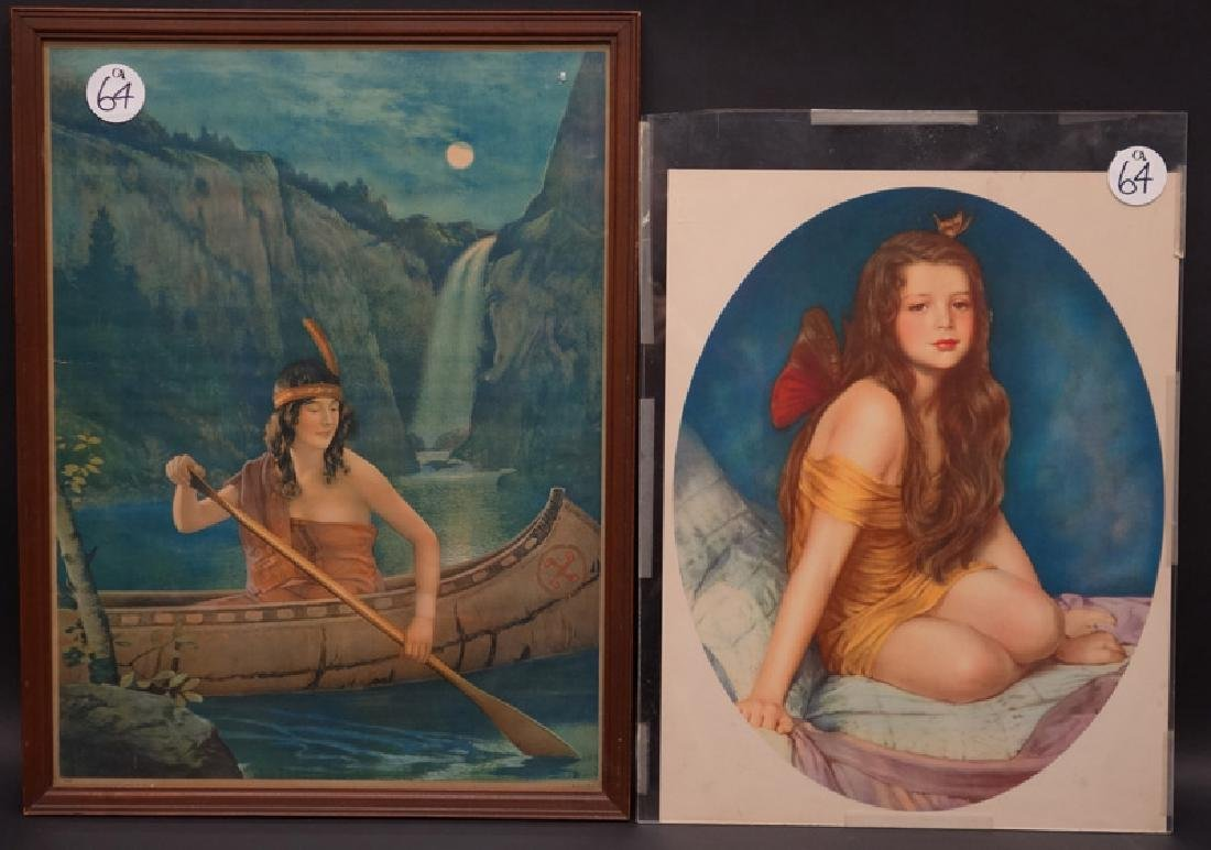 INDIAN & FAIRY LITHOGRAPHS (2)