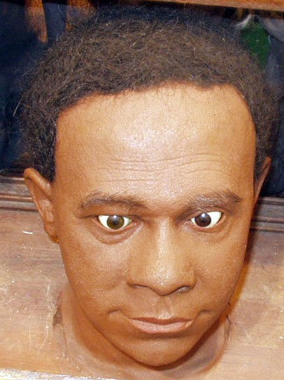 3: LIFE-SIZE VINYL HEAD OF YOUNG BLACK MAN