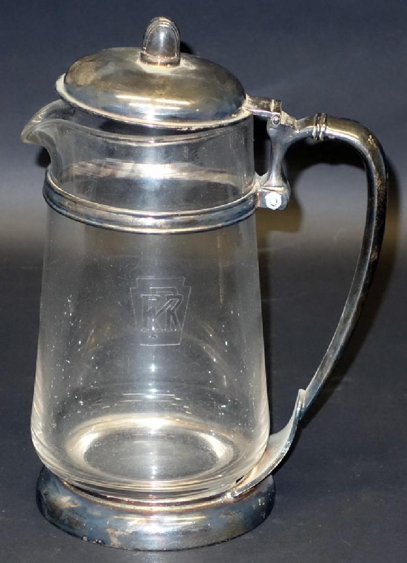 PENNSYLVANIA RAILROAD GLASS PITCHER
