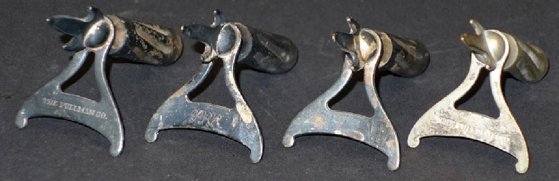 (4) P. R. R. SILVERPLATE FOOTED CORN SPEARS
