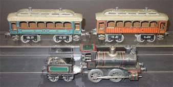 GERMAN TIN PASSENGER TRAIN