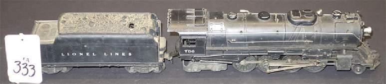 LIONEL O GAUGE TRAIN & TENDER (2) PCS