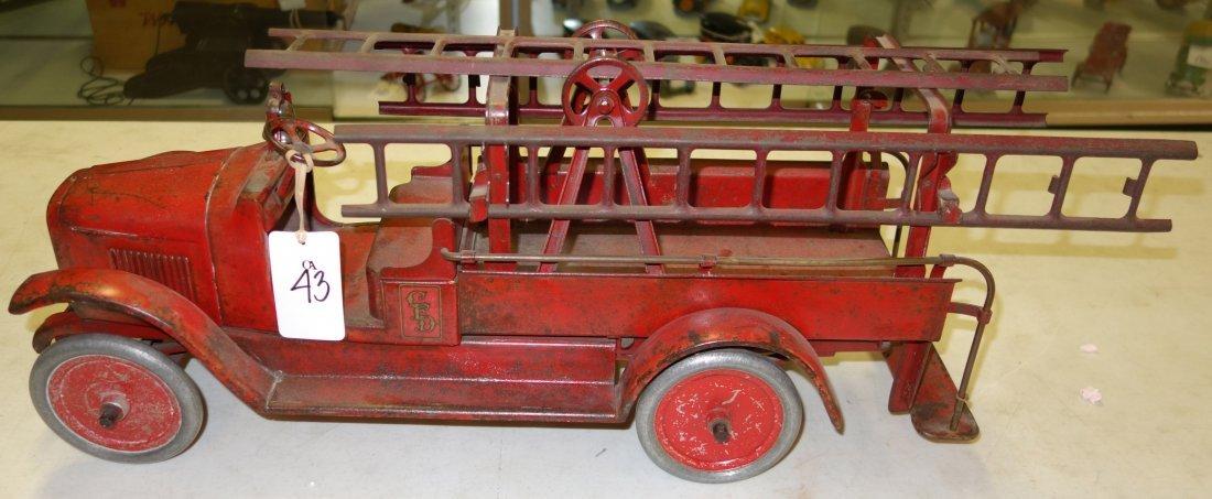 BUDDY L FIRE TRUCK - 4