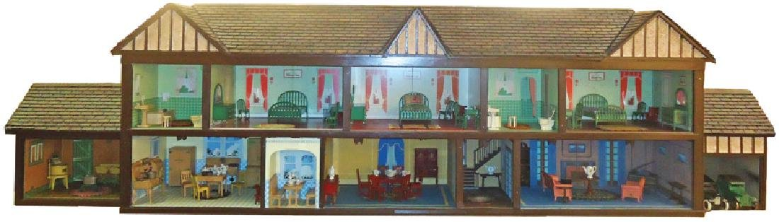 ARCADE DOLL HOUSE AND FURNITURE