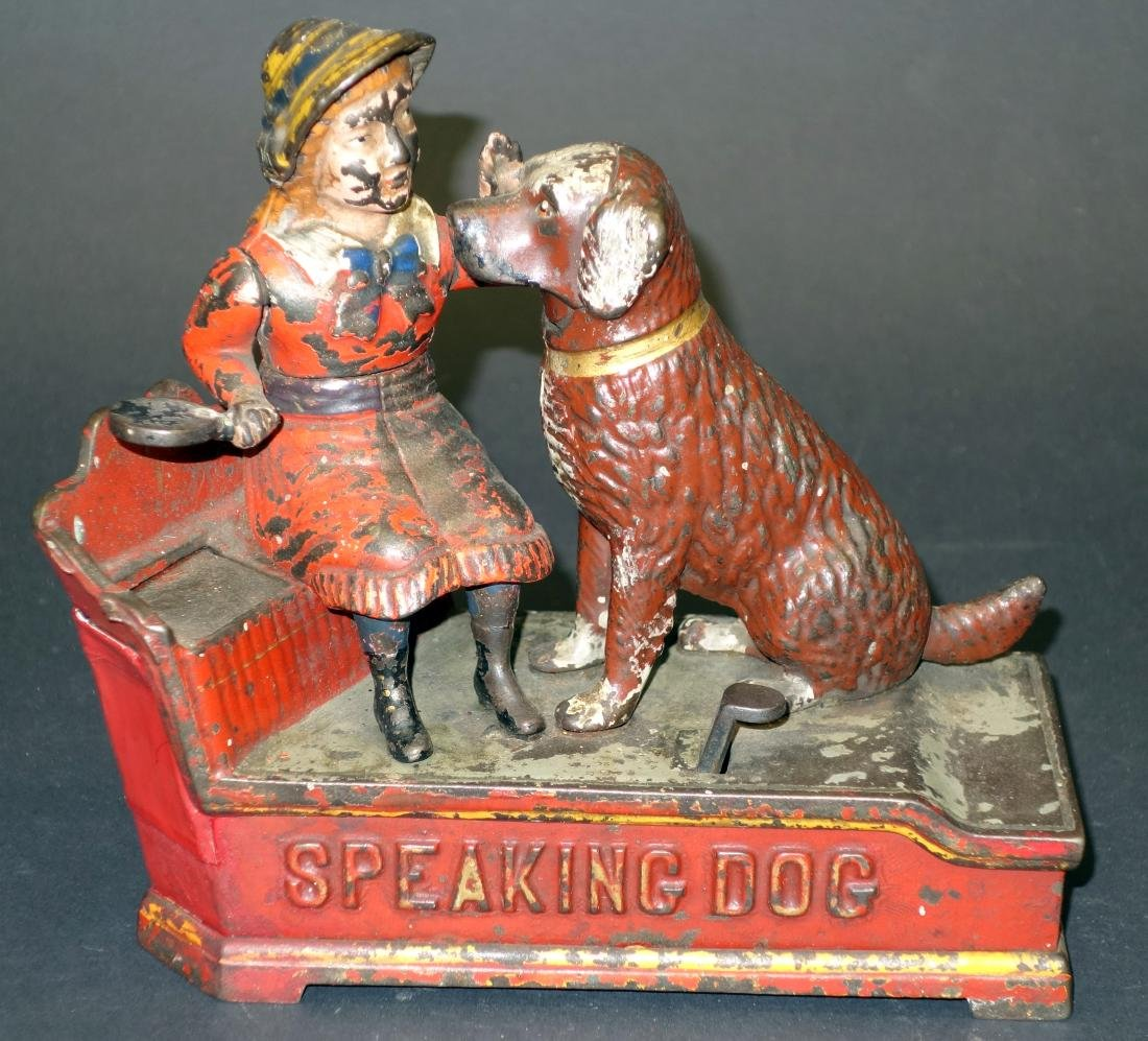 SPEAKING DOG MECHANICAL BANK
