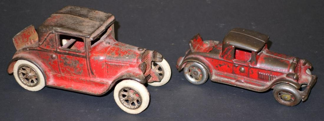 CAST IRON RUMBLE SEAT CARS (2)