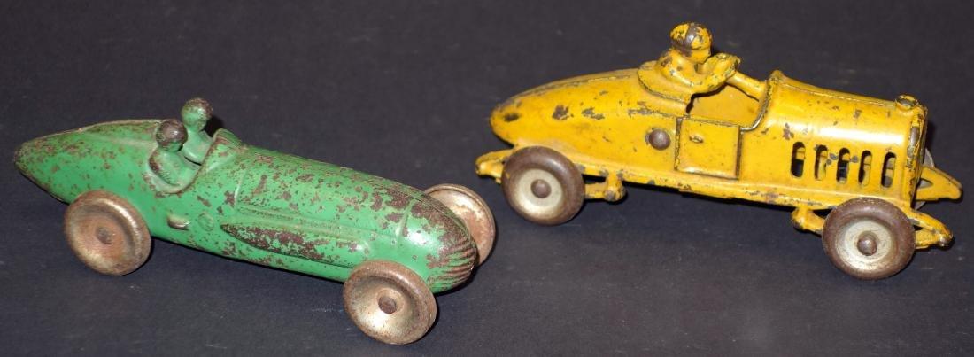 CAST IRON RACE CARS (2)