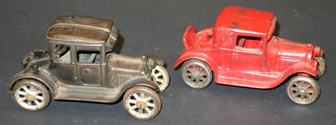 CAST IRON TOY CARS (2)